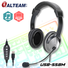 High performance surround sound pc gaming usb headset with mic