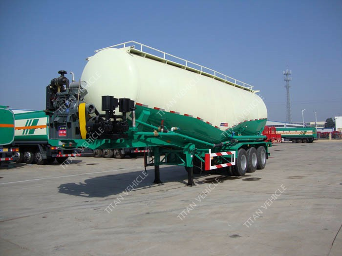 Titan 60 Ton Tank Cement Silo Trailer For South Africa