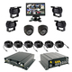 6CH 720P 960H HDDMDVR,Hard driver disk Mobile DVR Kit for vehicle 4CH Realtime CCTV H.265 car DVR low price IP69K waterproof