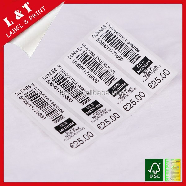 Fruit price sticker label used in market