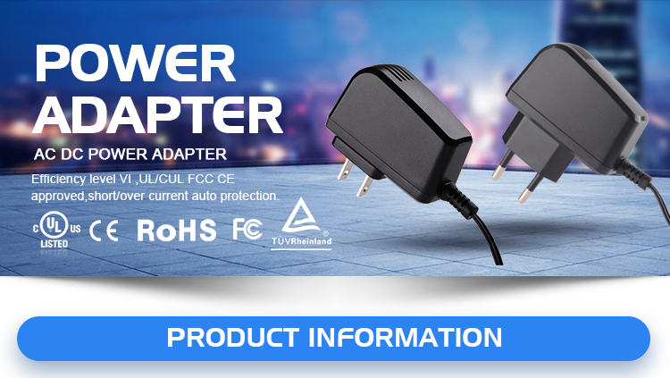 10v 500ma ac dc power supply power adapter with UL/CUL TUV CE FCC PSE ROHS CB SAA C-tick BIS level VI, 2 years warranty