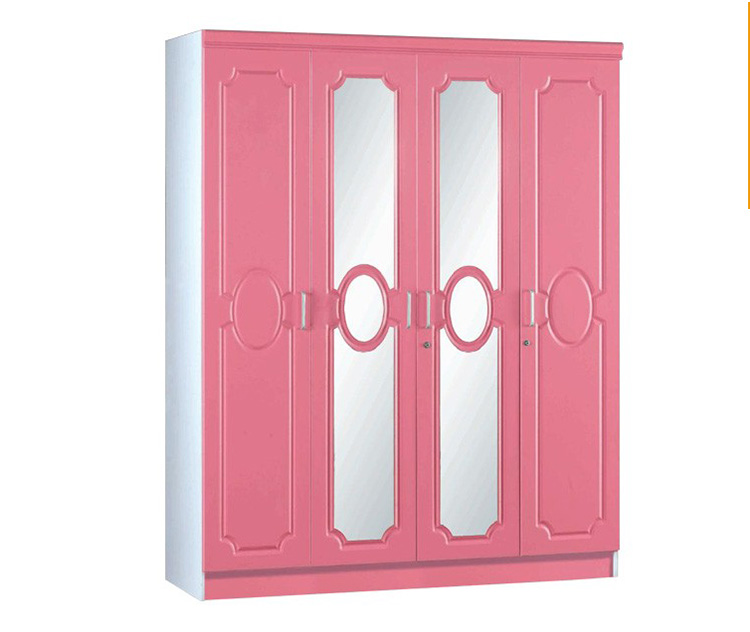 Wooden Armoire Pink PVC Wardrobe Closet/wardrobe Laminate Designs Girls  Cloth Cabinet Closet
