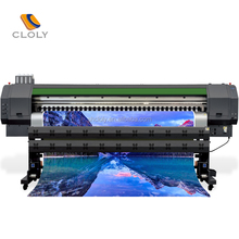 Large format CLOLY-3203B printhead printer,3.2m wide format flex paper printer, roll to roll printing machine