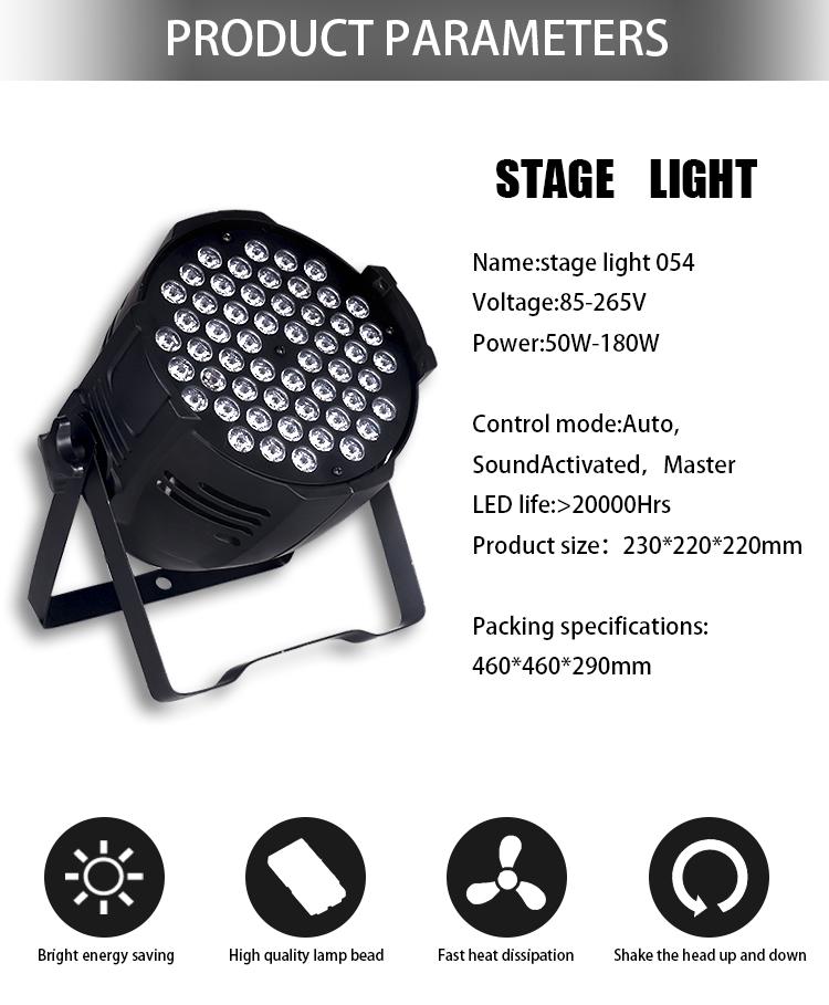 Fabriek goedkope prijs led spot podiumverlichting dj up light