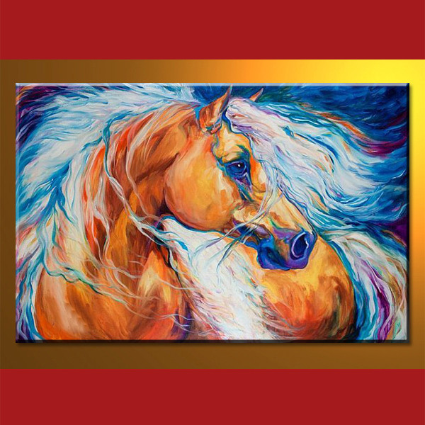 100% Handmade High Quality Impression horse oil painting