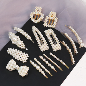 wholesale stock new designs big ins fashion hair pins pearl hair clips