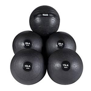 Body-Solid Slam Ball Set - 10, 15, 20, 25, 30 lb. Non-Bounce Medicine Balls