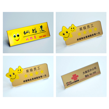 pin or magnetic reusable plastic name badge for staff - Magnetic Name Badges