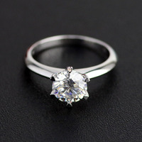 8mm 2carat real D color moissanite Platinum 950 ring gold with cheap price