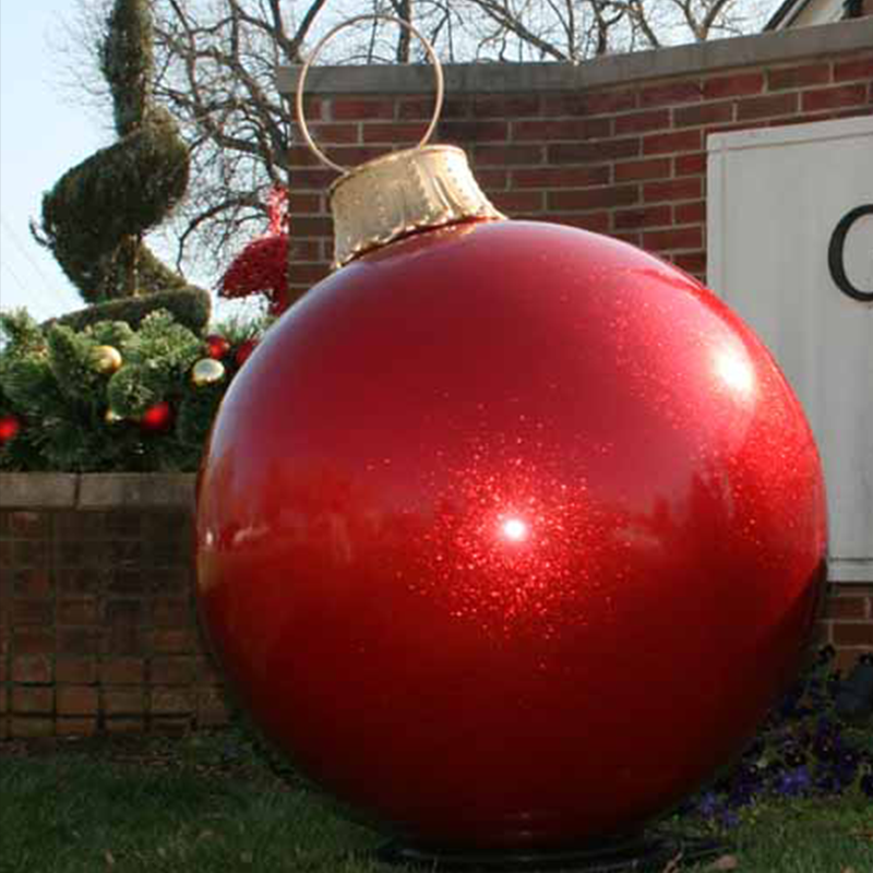 Outdoor Giant Red Glossy Environment Economic Fiberglass Christmas Props Bauble Ornament For Commercial Grade Displays Buy Giant Props Christmas