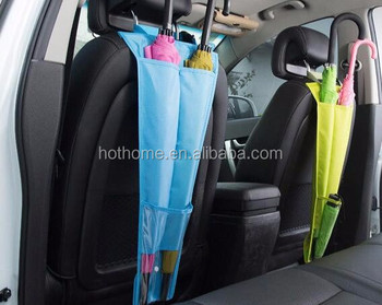 Car Seat Back Umbrella Storage Cover Bags Foldable Organizer Stowing Tidying Auto Motorcycle Interior