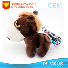 Backpack Car Hanging Doll Personalized Ornaments Year Of Horse Mascot Key Ring Plush Pony Embroidery Logo Keychain