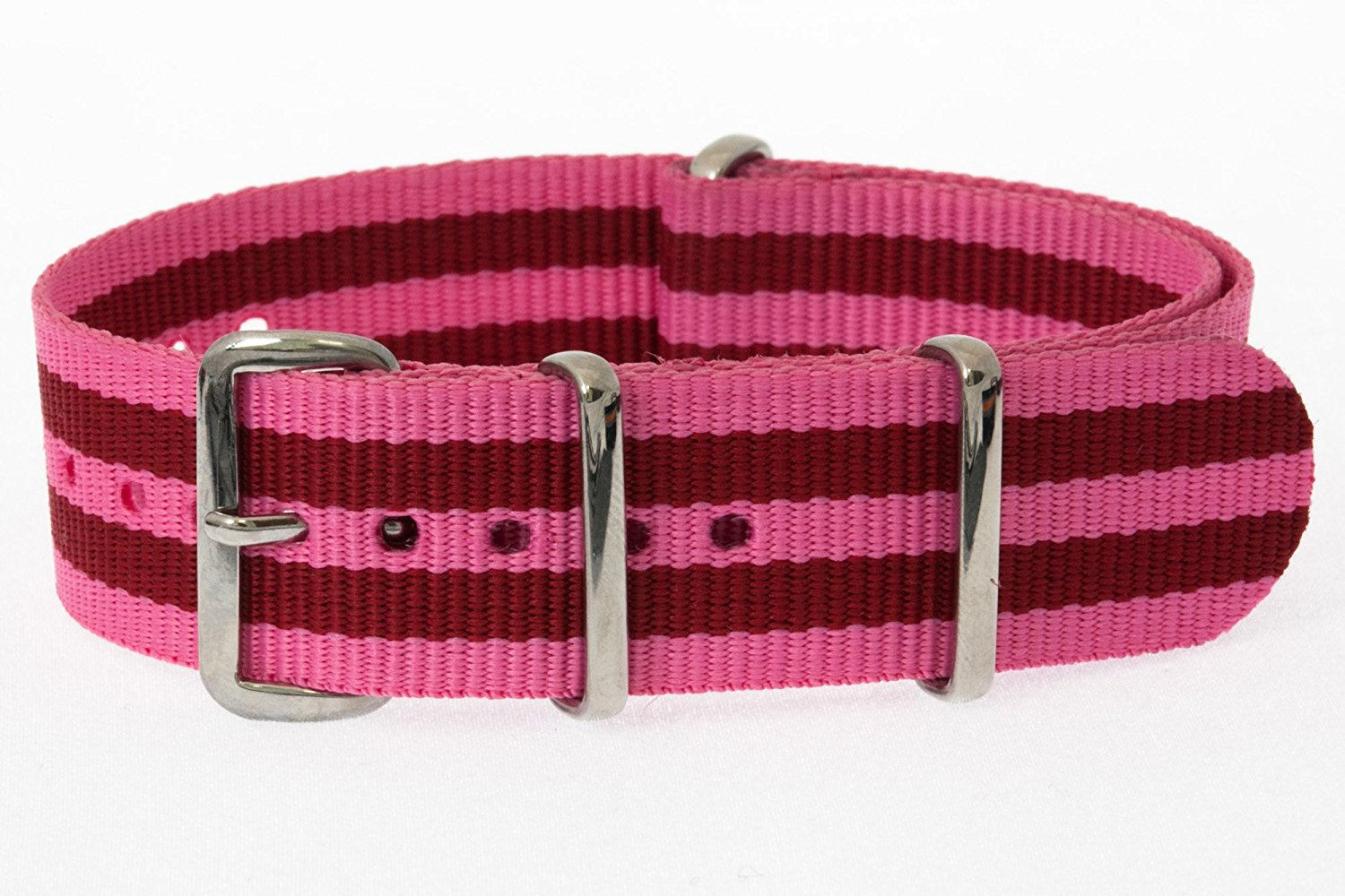 b4cb6693033 Get Quotations · 20mm   Pink Red   James Bond Nylon Nato Watch Band  Military Strap G10