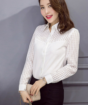 Z89844a Blouses For Women Uniform Sexy Women See Through Blouses