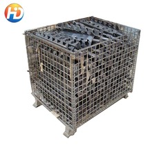 Best-selling Evergreat 5.8mm or 6.0mm gauge Heavy Duty Steel Mesh Pallet Storage Cage
