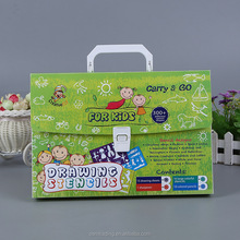 Wholesale portable document file case with handle plastic kids cute cartoon carry case