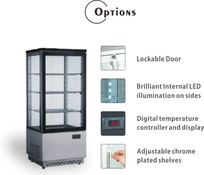 78L Commercial Four side upright showcase cooler