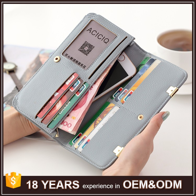 Wholesale Travel Women Fancy Ladies Clutch Purse / Woman Leather <strong>Wallet</strong>