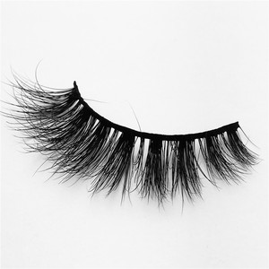 False Eyelashes 3D Real Mink Hair Natural Long Thick Black Curling Beauty Professional Make-up Extension Tools