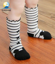Wholesale Yiwu socks baby infants Jacquard star sporty tube baby socks