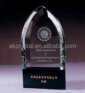 Customized shape K9 crystal award trophies