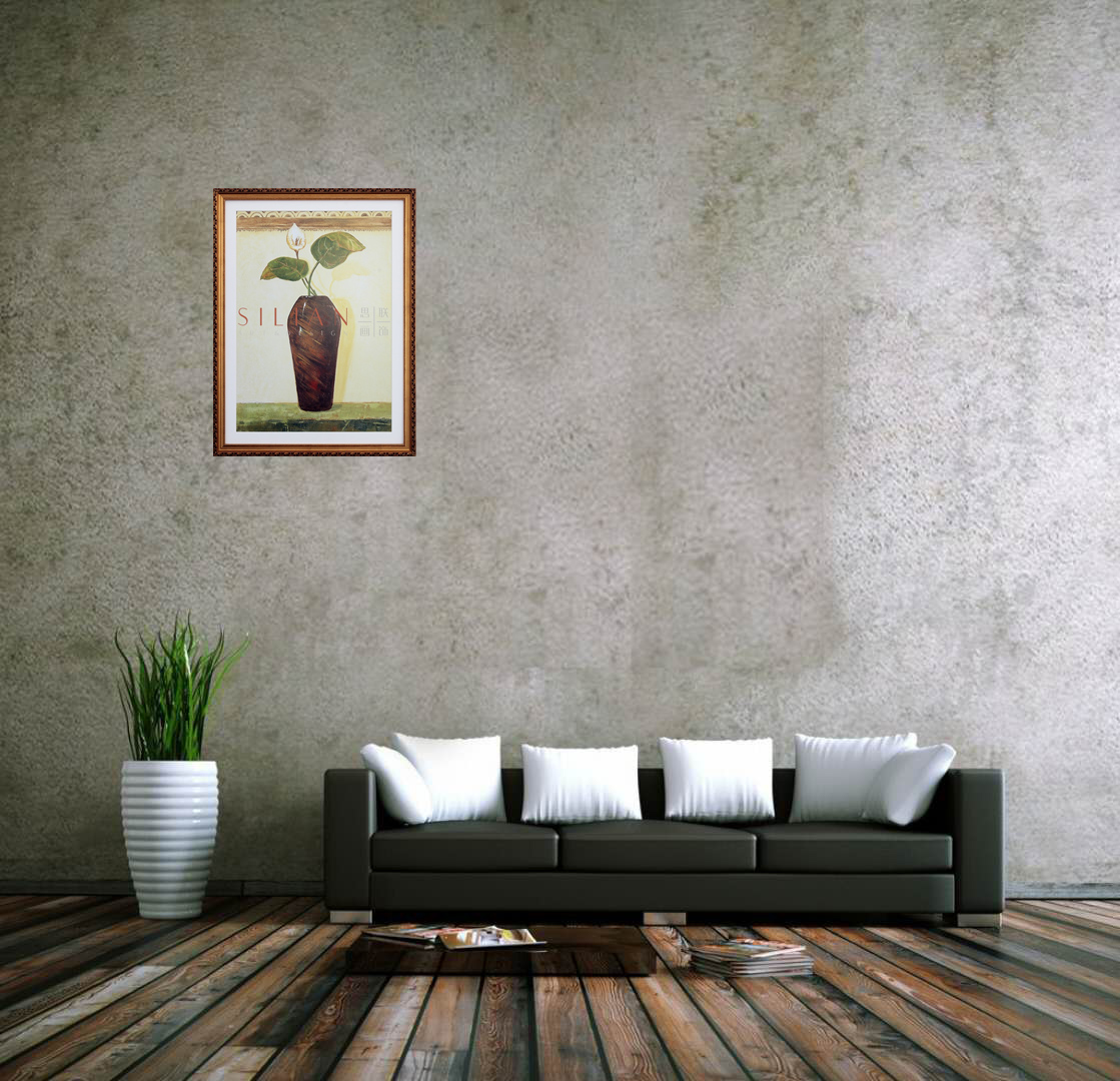 Tropical green leaf watercolor home goods wall art painting