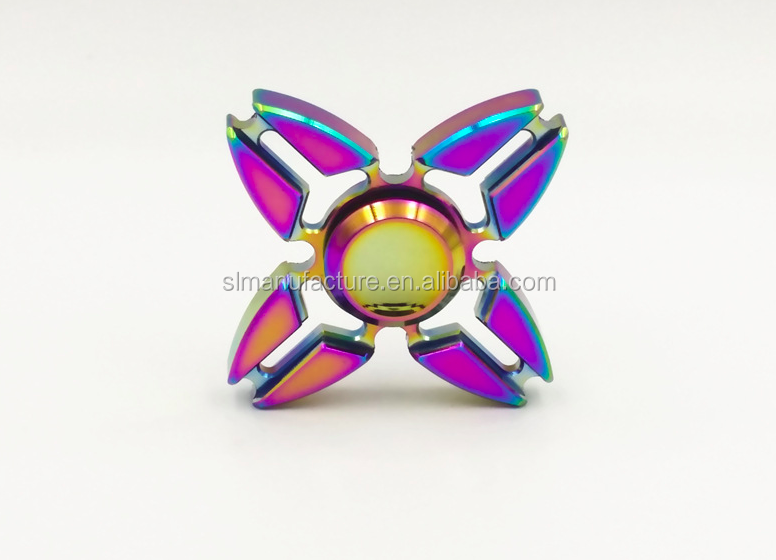 New design funny customized oem fidget spinner Dazzle colour hand spinner