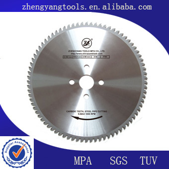 large tct circular saw blade for cutting seamless steel pipe
