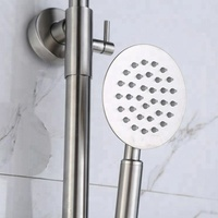 Bathroom Massage Shower Panel With Hand Shower Tub 304SUS Waterfall Rain Shower Faucets