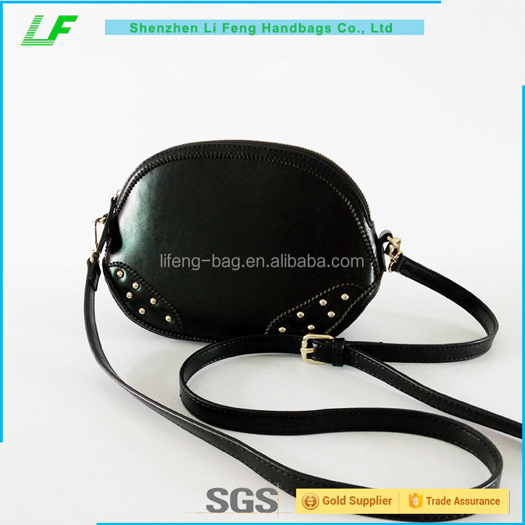 Black Cool ladies shoulder handbag leather ,wholesale handbag personalized