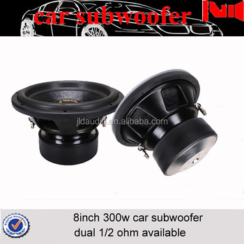 Mini Car Subwoofer For Seat Speaker 300w Rms 600w Max Power 8inch