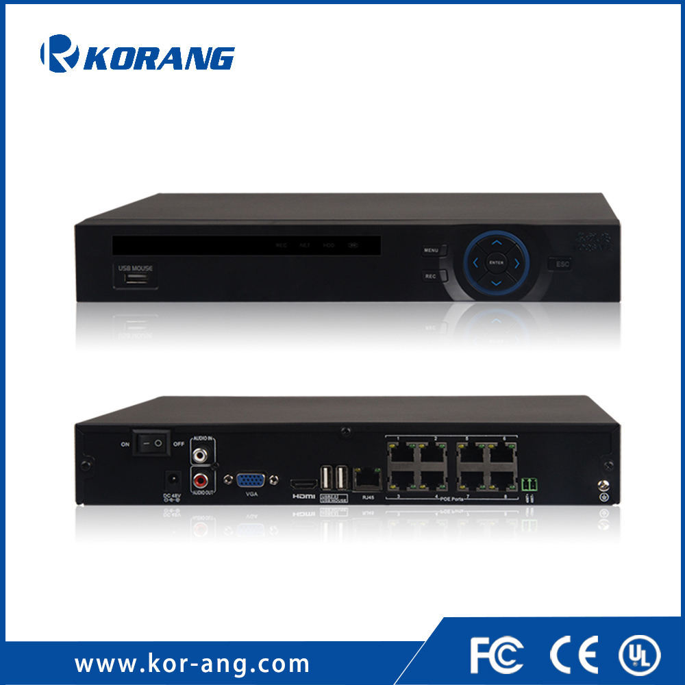 8 Channel 1080P HD H.264 P2P CCTV Mobile Onvif Switch Plug and Play Built-in POE NVR