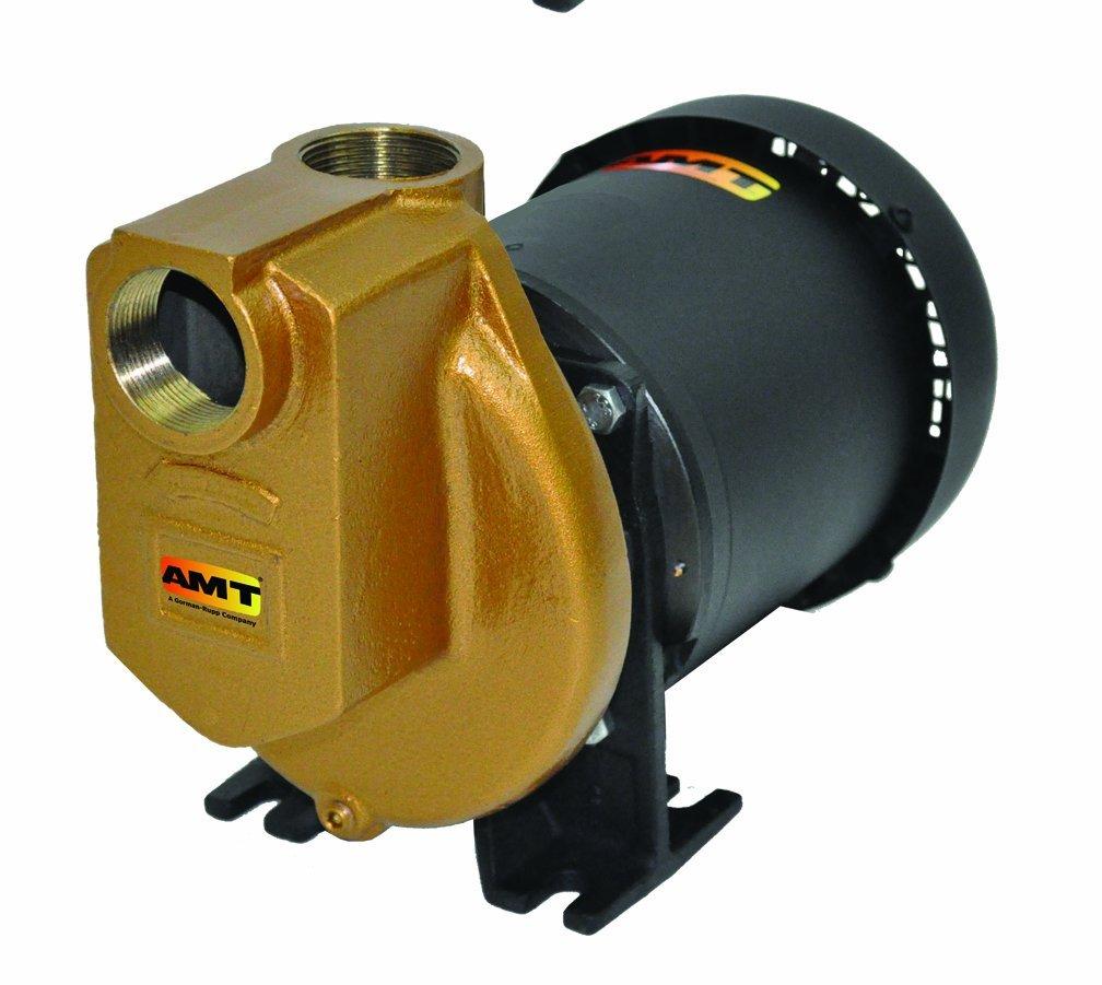 "AMT 3891-97 1.5"" Self-Priming Bronze Centrifugal Pump, 100gpm, 75psi, Viton Seal"