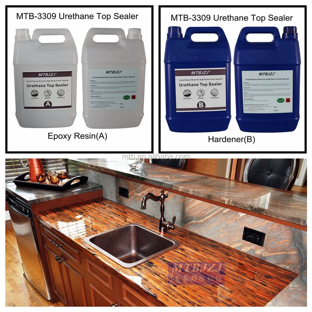 Ultra Clear Countertop Epoxy Coating Extremely Durable Table Top Finish View Crystal Countertops Mtbjzj Product Details From Shenzhen