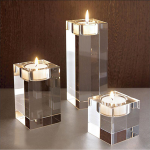 China manufacture OEM candle jars wedding decor crystal glass candle jar with lid