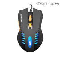 High Quality LED Optical USB Wired Computer Mouse Professional Wired Gaming Mouse Cable Mouse for drop shipping and warehousing