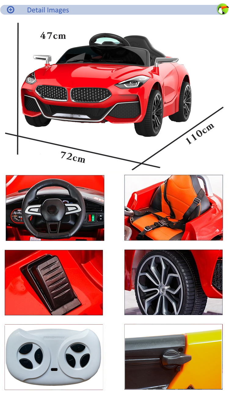 Chinese cheap price licensed 6v*2 battery ride on toy children car parent remote control electric car kids