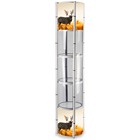 acrylic rotating jewelry twist tower display stand