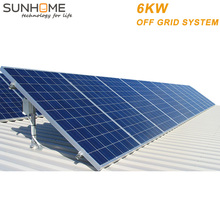 SUNHOME 6KW residential solar energy mono pv panel home system