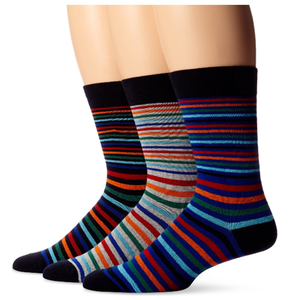 colorful striped design 3 pairs pack cotton men business socks dress socks happy socks