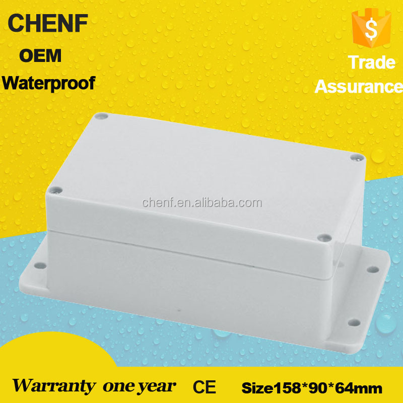 2017 newest battery box 158*90*64mm ABS telephone enclosure waterproof junction box IP65 with ears
