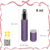 8ml charming portable purple leathered bottle perfume pump sprayer