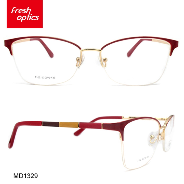 MD1329 Wholesale non fading memory metal optical frames for children