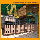 Automatic setting system Clay brick stacking robot arm for brick factory
