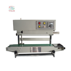 Automatic continuous band sealer machine FRD900 heat sealer poly bag sealer