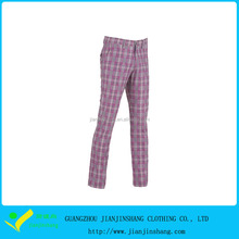 Fashion Style Polyester Sublimated Checked Commando Trousers Lady