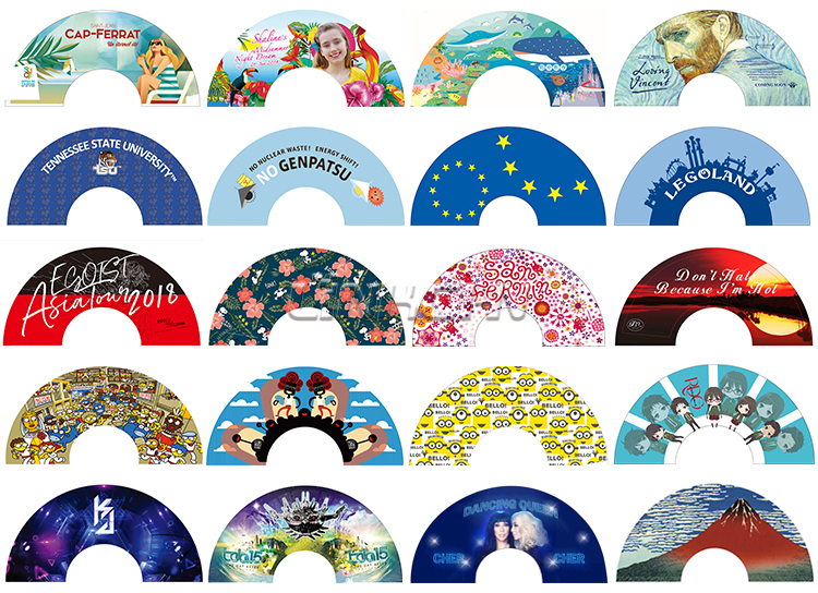 wholesale  sublimation wood hand fan for wedding favors
