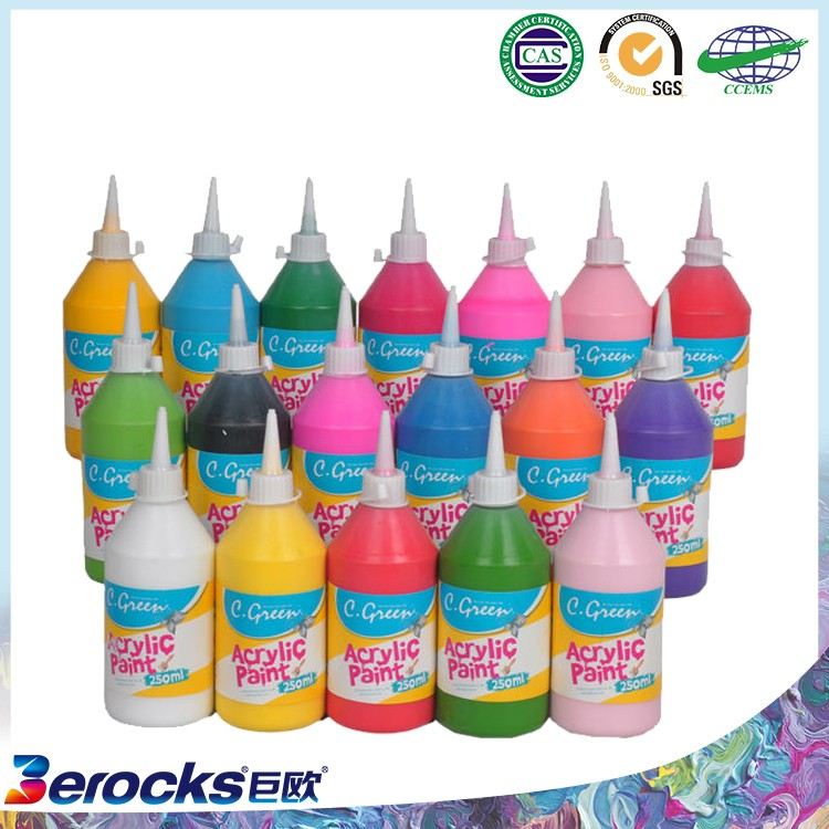High Quality Non-Toxic 250ml bottle acrylic colour