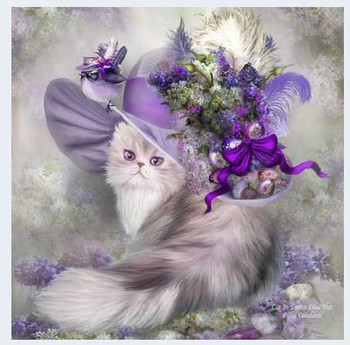 Cat animal DIY Crystal 5D diamond painting glue cross stitch kits mosaic rhinestone machine 3D diamond art painting no frame