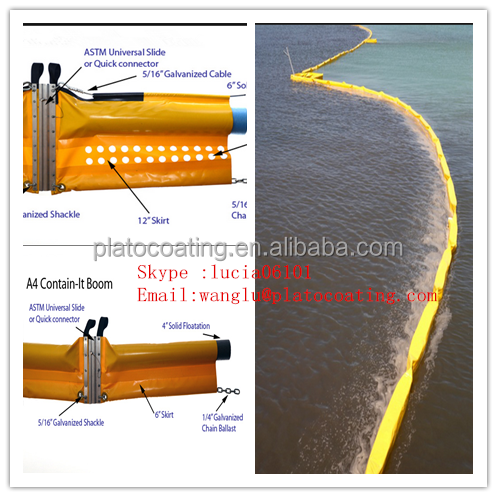 Pvc Coated Oil Boom Oil Containment Boom Oil Spillboom